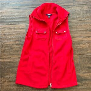 NWT Chaps Red Vest